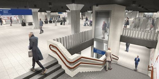 Artist impression of Weesperplein metrostation